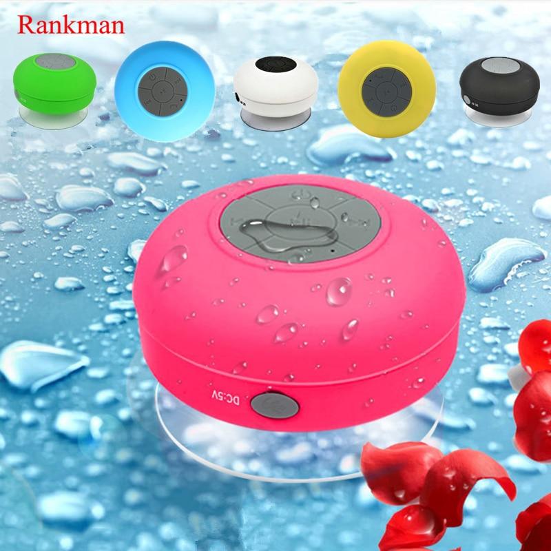 Rankman Portable Wireless Speaker Bluetooth Waterproof Bathroom Shower Speaker Handfree Call Outdoor Bluetooth Speaker