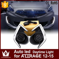 GuangDian 1Set Car Accessories Auto LED DRL Front Lamps White High Power Daytime Running Light For