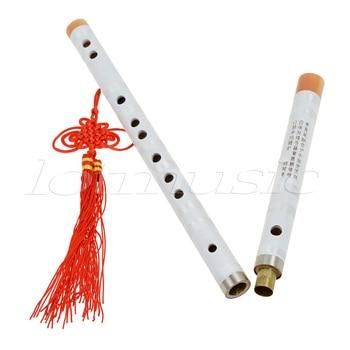 Kmise White Paint Traditional Chinese Bamboo Flute Dizi Pluggable F Key Musical Instrument chinese bitter bamboo flute high quality professional transversal flauta cdefg key black ox horn open hole dizi bamboo flauto