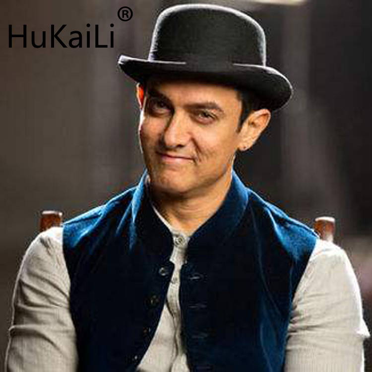 The phantom lr amir khan in the original single Wool Bowler Hat luxury felt billycock hats for men with belt rolled brim