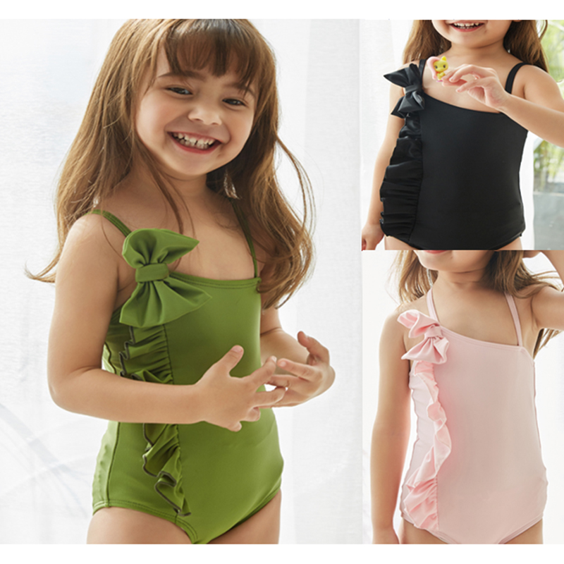 New Children Swimwear One Piece Swimsuit Girl Bady Bathing Suit Lovely Cartoon Print Kids Beachwear One-piece Child Swimming(China)