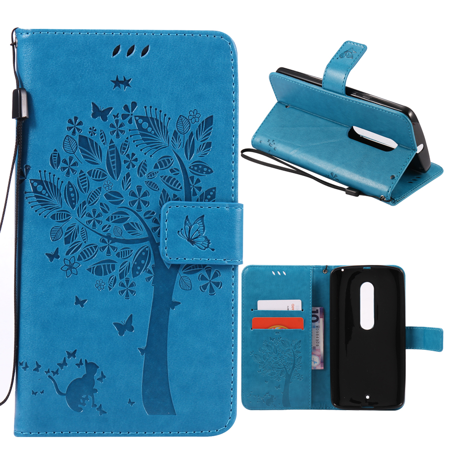 Wallet Magnet Flip Cover Leather Case sFor Motorola MOTO X Play case For Moto XStyle Coque 3D Pattern Stand With Card Holder