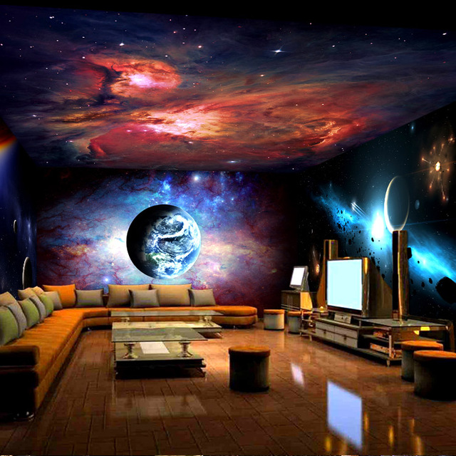 Buy free shipping bar ktv lounge rooms for Ceiling mural in a smoker s lounge