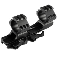25 4mm 30mm Quick Release Cantilever Weaver Forward Reach Dual Ring Rifle Scope Mount