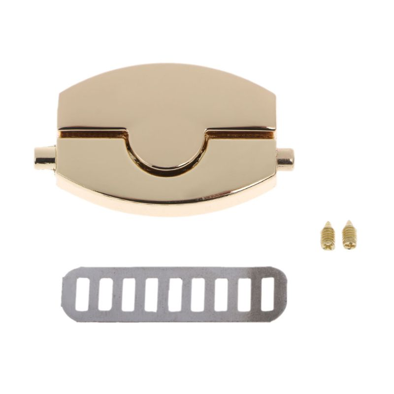 THINKTHENDO 2019 New Metal Clasp Turn Lock Twist Locks For DIY Handbag Craft Bag Purse Hardware