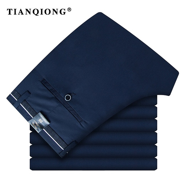 TIAN QIONG Brand Pants Men Spring and Autumn High Quality Classics Fashion Slim Business Mens Casual Full Length Male Trousers