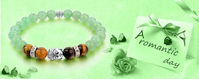 Женский браслет в виде Будды из тибетского серебра с цепочкой