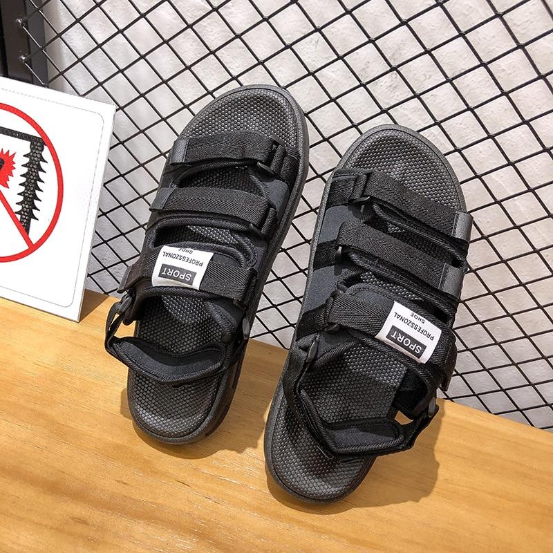 Couple Flats Casual Sandals Women Rome Fashion Hook & Loop Beach Flip Flops Summer Walking Women Shoes Soft Slippers Plus Size 1