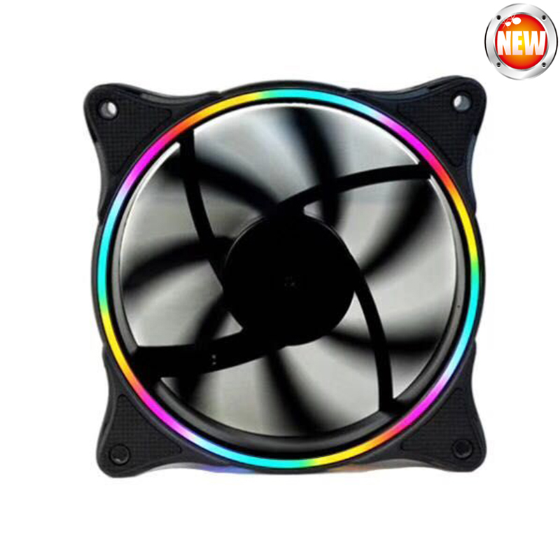 120mm 4colors 1500rpm ultra silent 12cm circle LED Fan for Computer Case 12v Multicolor Cooler Fans metal computer case fan grill 12cm