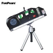 цены Fivepears Laser Level Horizon Vertical Measure 8FT Aligner Standard and Metric Ruler Multipurpose Measure Level Laser