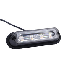 DC 12-24V 4 LED Waterproof Car Truck Strobe Flash Warning Light Side Maker   Drop Shipping  P30 July20
