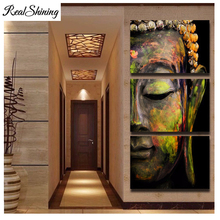 5D square Diamond Painting large buddha Cross Stitch kit picture for embroidery abstract Diy mosaic bead FS3212