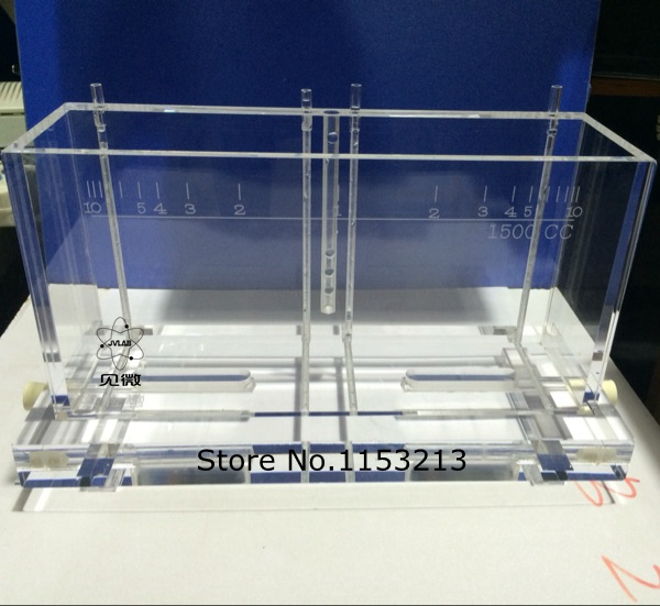 Haring cell 1500cc groove 1500ml Hall groove plating Hull Cell Testing Equipment without heating