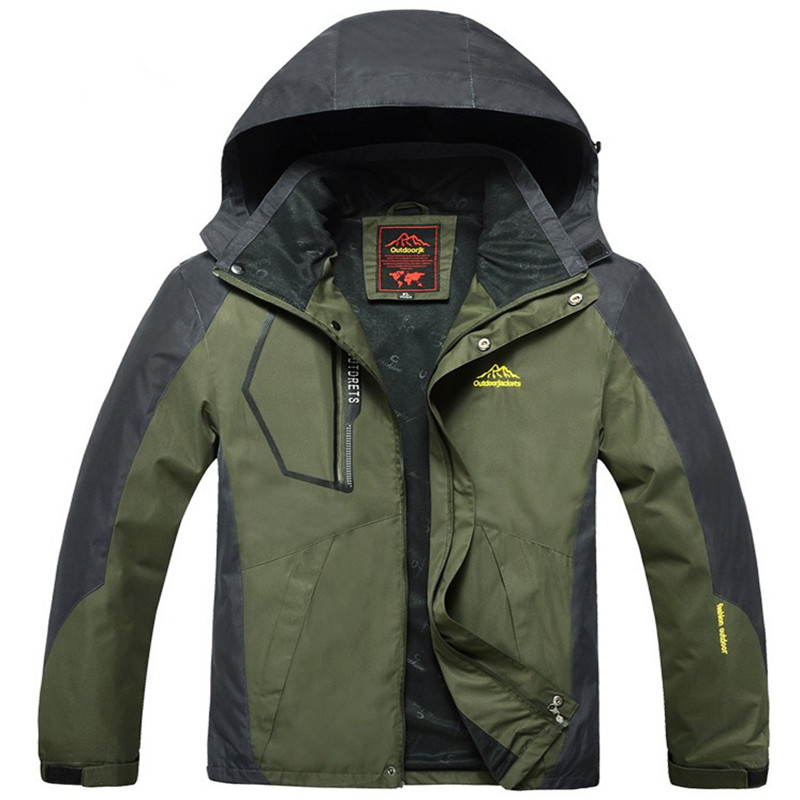 New Men's Big Yards Mountaineering Outdoor Jackets, Camping Hiking Driving Men's Suit, Waterproof Windproof L -9xl Size