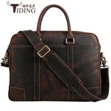 Men Briefcases Genuine Leather 16