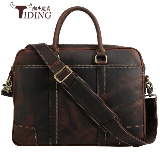 c6deb2cc2b7 US $148.5 25% OFF|Men Briefcases Genuine Leather 16