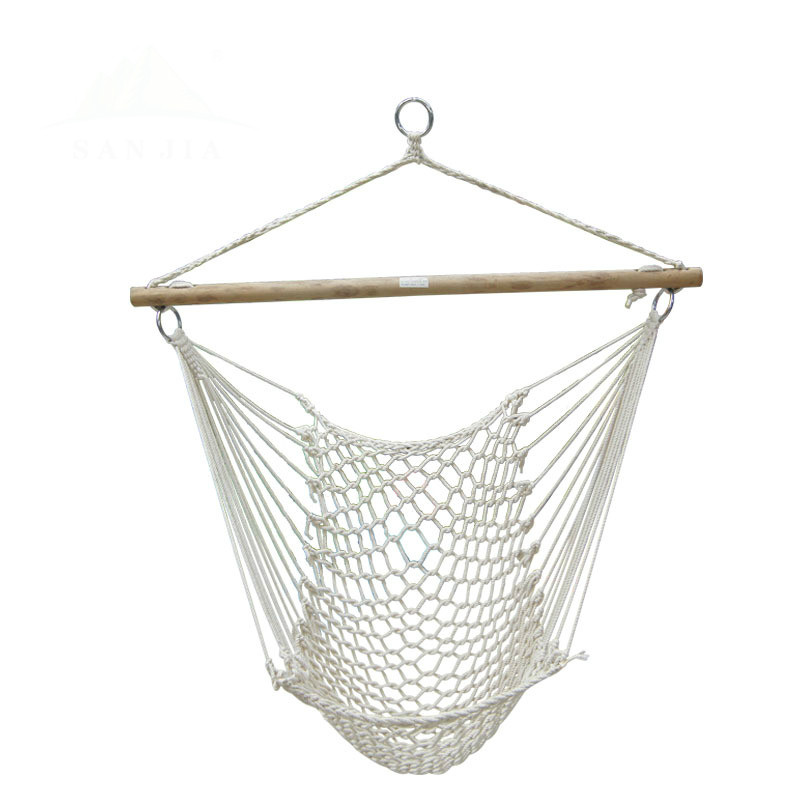 High quality mesh chandelier bedroom chair comfort cotton rope outdoor swing hanging chair home adult cradle chair