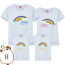 Parent-child T-shirts Lovely Chicken Shirt Lovers Family T-shirt Women Summer from Casual Tops Kid Parentage clothes DD10008