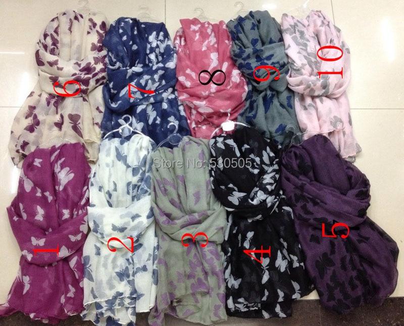 Fluture imprimeu eșarfă Înveliș șalac Accesorii pentru femei - Accesorii pentru haine