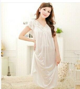 Free shipping women red lace sexy nightdress girls plus size Large size Sleepwear nightgown night dress skirt Y02-4 3