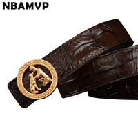 Genuine Leather Belt Youth Trousers Fashion Business Belt Men Casual Belt Crocodile Pet Family Belt YS153