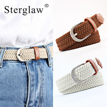 70-105cm Fashion Casual stretch woven belt Womens child elastic belts for women jeans elastique Modeling Children N108
