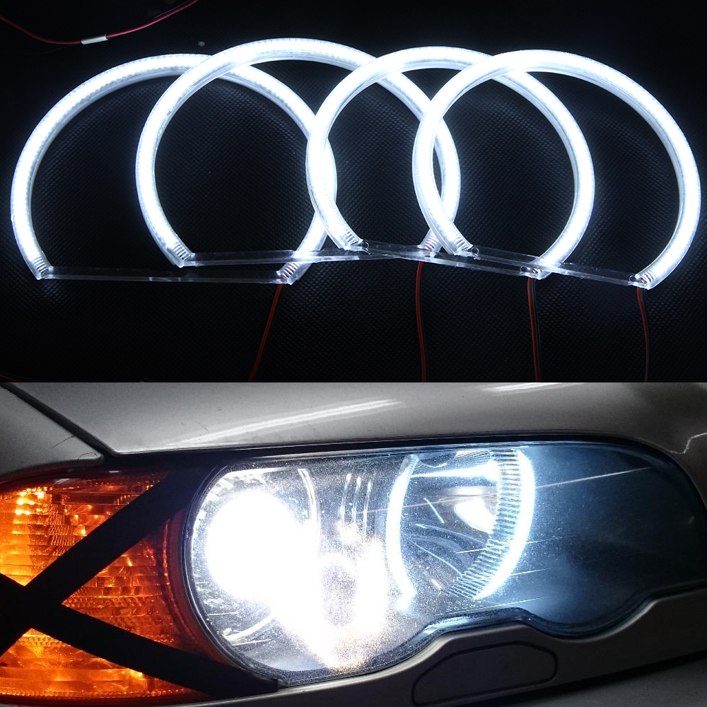 Canbus 12V 3014 SMD Car Led Halo Rings Angel Eyes Headlights for BMW E46 3 series Non projector Car Lighting Source