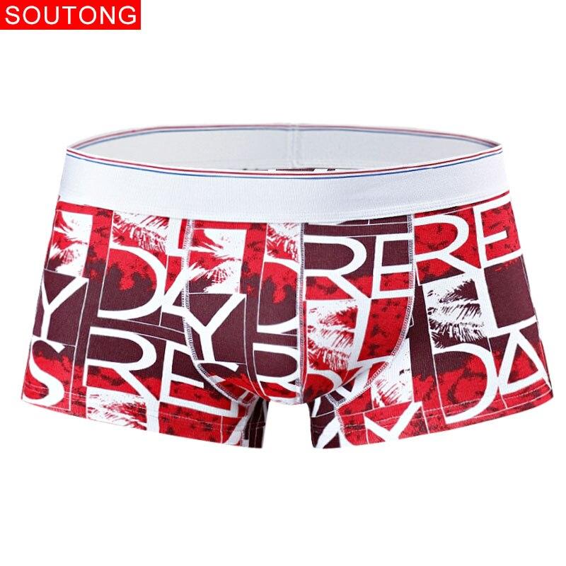 Soutong Men's Underwear Winter Plus Velvet Thick Warm Cotton Boxer Shorts Fashion Boxer Men Low Waist Men Underpants
