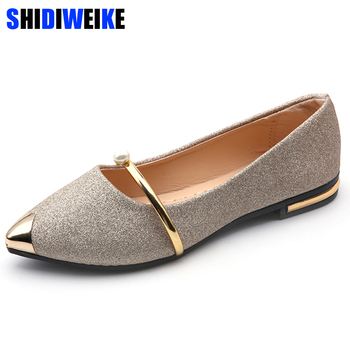 Brand 2019 Spring Autumn New Ladies Flat Shoes Casual Women Shoes Comfortable Pointed Toe Flat Shoes m989