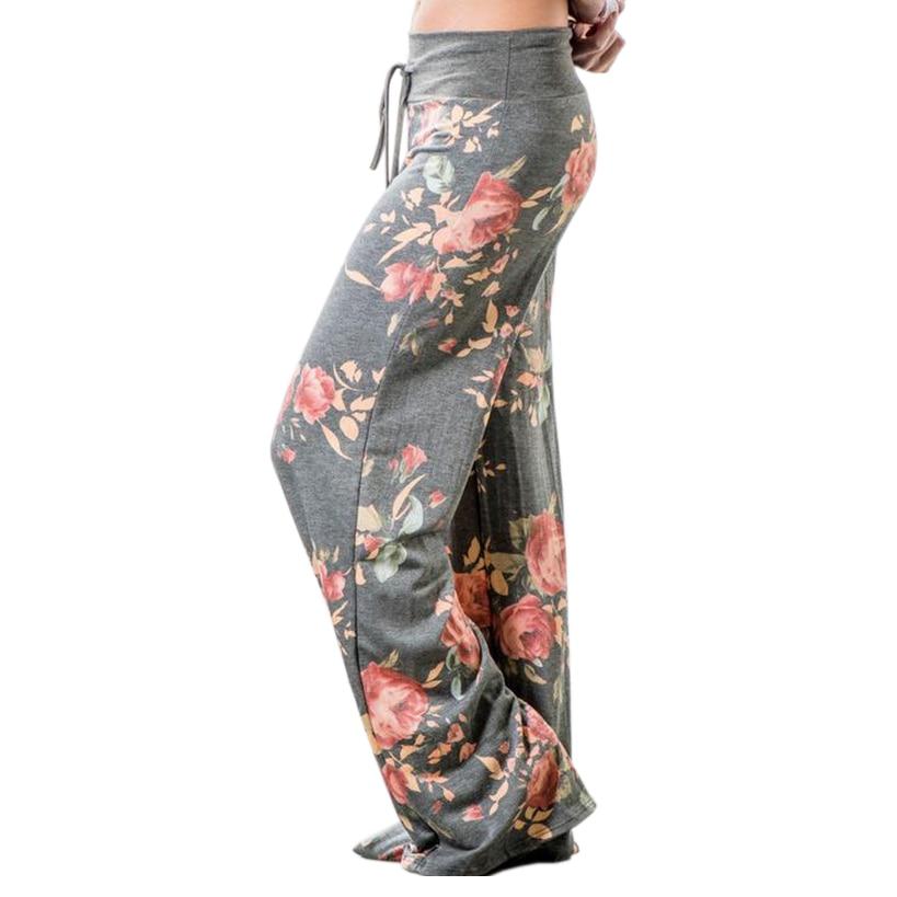 Floral Printed Women Pants 2018 pantalon femme mujer Large 3XL Wide Leg Pants Stylish Loose Casual Pants Trousers Femme GV758