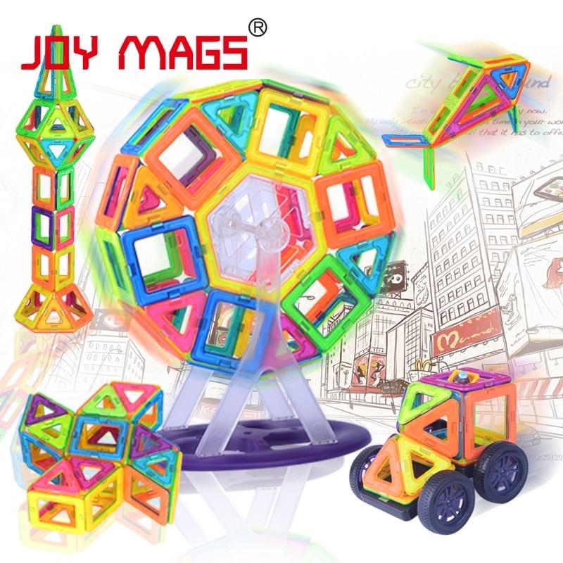 JOY MAG Magnetic Designer Block 102/149 pcs Building Models Toy Enlighten Plastic Model Kits Educational Toys for Toddlers magnetic 77 82 89pcs magnetic kits building models toy with windmill car enlighten plastic educational for toddlers yoyo diy