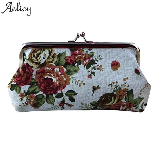 Wallet Retro Vintage Flower Small Wallet Hasp Lady Purse Clutch Bag Dropship  SELLING Carteira Feminina