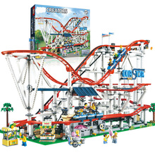 SLPF Children Educational Toys Space Roller Coaster Playground Large Building Blocks Brick Building Model Compatible Legoing I08 lepin friends amusement park roller coaster playground building blocks classic girl kids model toys marvel compatible legoings