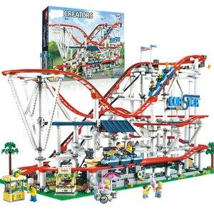 SLPF Children Educational Toys Space Roller Coaster Playground Large Building Blocks Brick Building Model Compatible Legoing I08