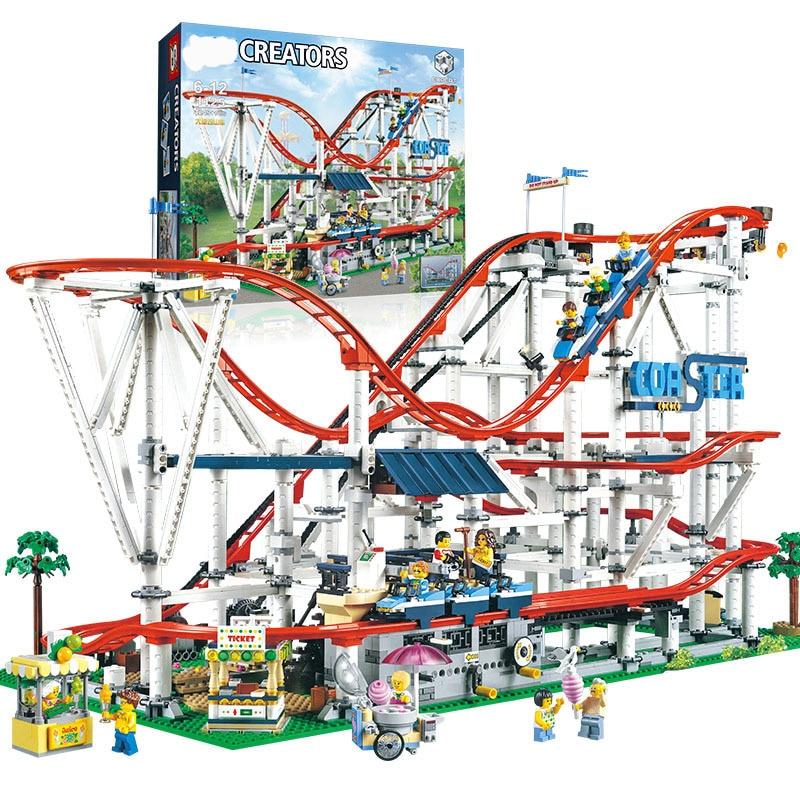 SLPF enfants jouets éducatifs espace montagnes russes aire de jeux grands blocs de construction brique modèle de construction Compatible Legoing I08