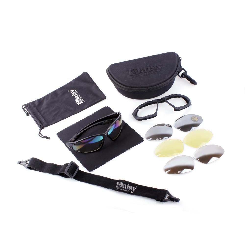 FS Brand C4 Outdoor / Windproof / WARGAME Goggles Include 4 Lens And Soft Case