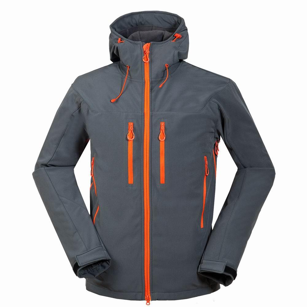 Camping & Hiking 2019 Latest Design Winter Warmth Outdoor Mens Soft Shell Hooded Cardigan Jackets Tops Camping Trekking Hiking Waterproof Fleece Coats Sportswear Fine Workmanship