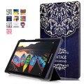 2016 nueva tab3 8 pulgadas tablet más nuevo color pintado pu leather case flip cubierta para lenovo tab3 tab 3 8 tab2 a8 tablet case + regalo