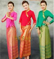 Thailand Restaurant&Hotel uniform Woman Sauna suit Thai style Waiter uniform