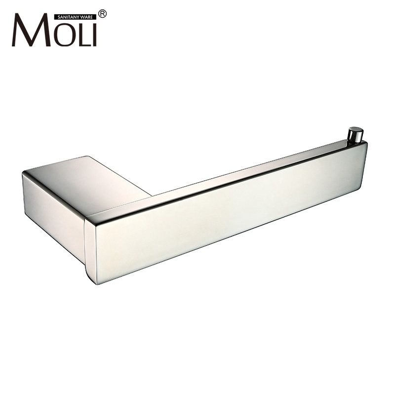 Mirror polished stainless steel toilet paper holder wall for Bathroom accessories toilet roll holder