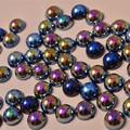 1Pack 2mm-5mm Fancy Black Pearl Nail Art Stickers Tips Decoration Glitter Nail Rhinestone Decoration Tools