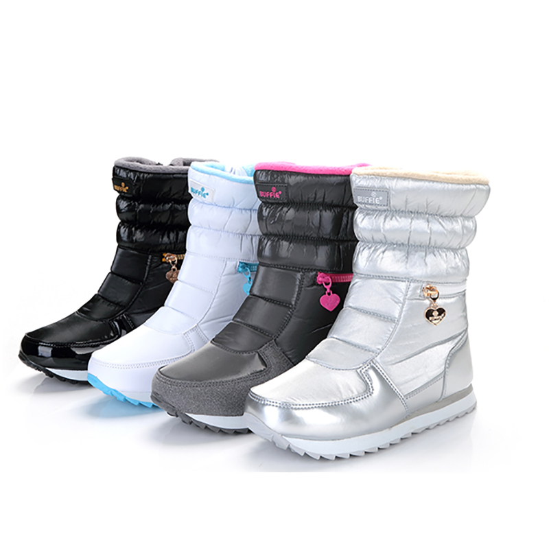 Snow Boots Winter New Women's Shoes Boots Ski Boots Thick Plus Cotton Shoes Ladies Waterproof Non-slip Warm Shoes Russian Size