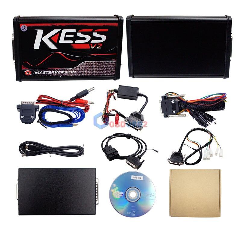 HTB150oiilcHL1JjSZFBq6yiGXXad V2.47 Online EU Red KESS V2 5.017 Full Master OBD2 Manager Tuning KESS V5.017 4 LED KTAG V7.020 BDM Frame K-TAG 7.020 ECU Chip