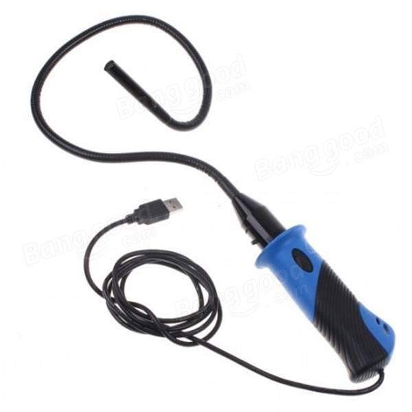 NEW 7mm 6LED Waterproof Flexible USB Endoscope Waterproof Inspection Camera Borescope with Handle