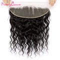 8A 13X4 Orelha a Orelha Fechamento de Renda Frontal sagacidade Bebê Cabelo Rainha Ensolarado cabelo Onda Solta Mongolian Do Cabelo Do Laço Frontal produtos