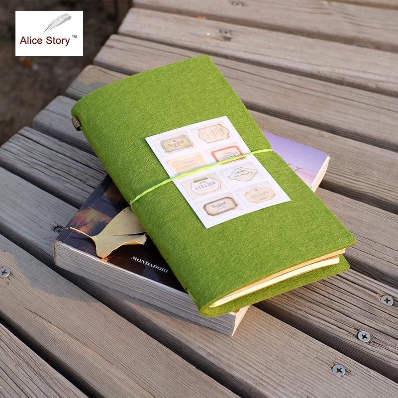 Merasa Kain Traveler Notebook DIY Sisipan Diganti Diary L / M Ukuran Kain Travel Diary Notebook Kantor Sekolah