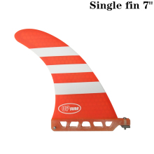 Surf longboard fin 7 inch Barbatana Fin Fibreglass in Surfing single stand up paddle Red/Blue color
