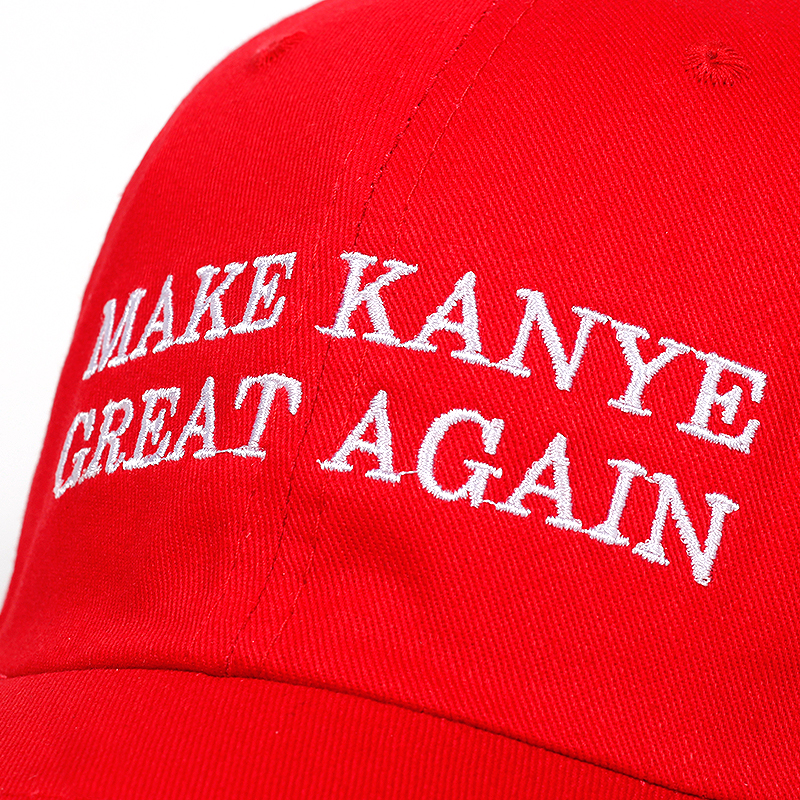 Juses is king Make Kanye Great Again dad Hat  4