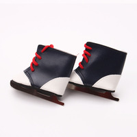 Новый дизайн American Girl Doll Обувь ледовых коньков Обувь для 18