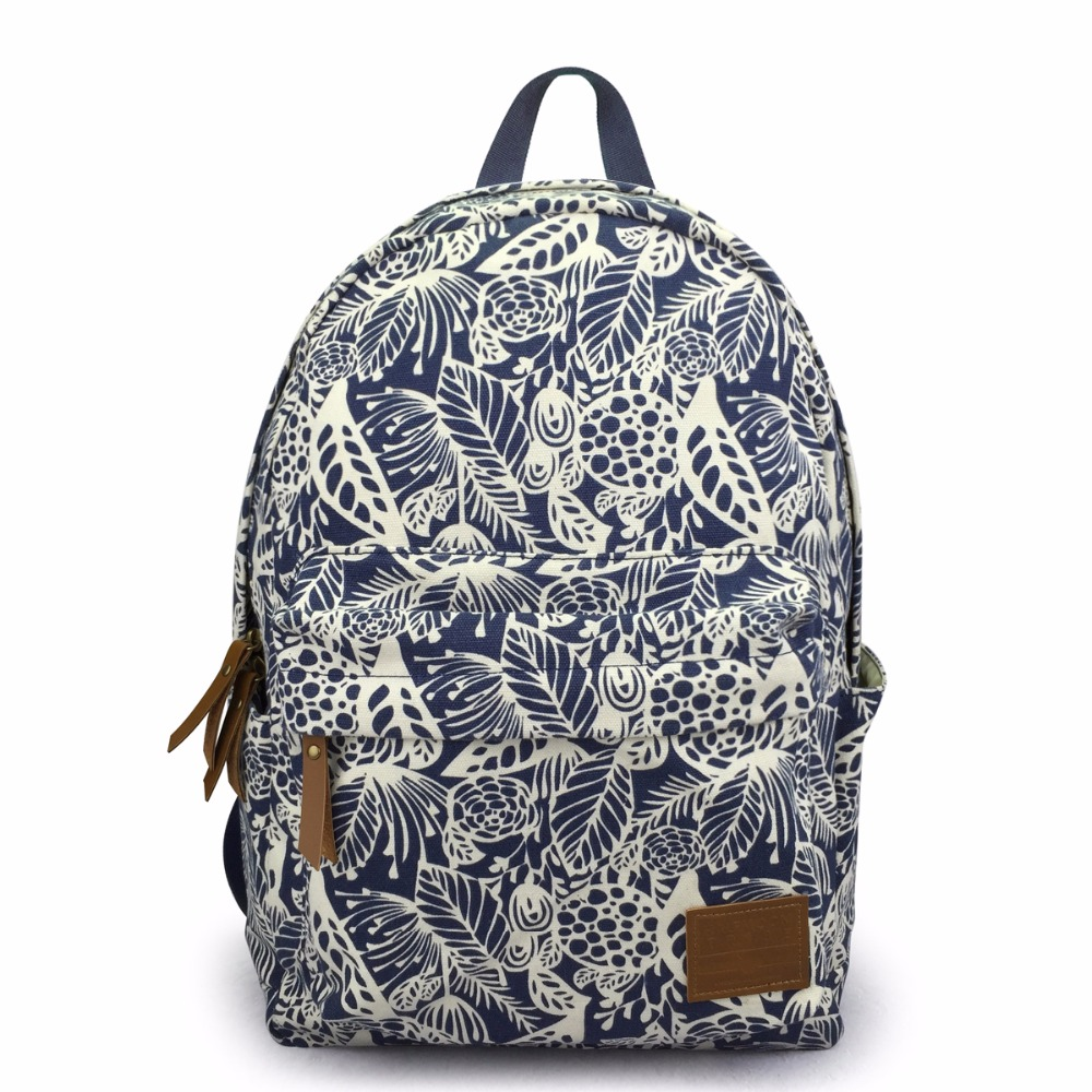 Women backpack for teenage girls school backpack bag Flowers Printing Canvas Female Backpacks for college students fengdong brand women backpack shoulder bag female school students bag travel canvas printing backpack for women teenage girls